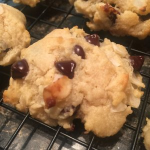 Coconut Chocolate Chip Keto Cookies